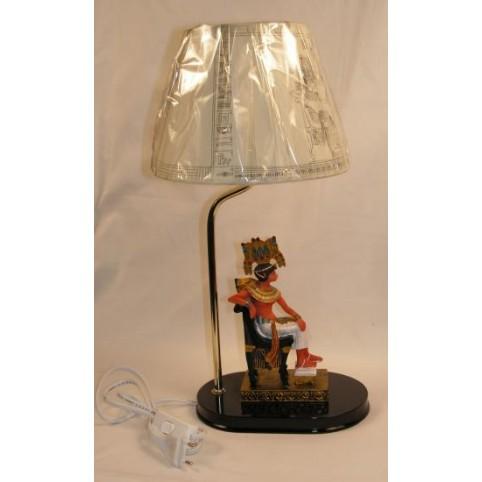 LAMPE TOUTANKHAMON SUR TRONE