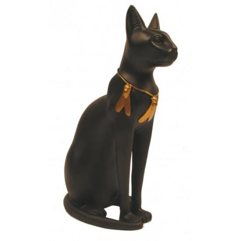 FIGURINE CHAT COLLIER ABEILLE