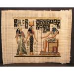PAPYRUS ISIS ET NEFERTARI DEVANT KHEPRI