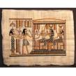 PAPYRUS SECHAT DEVANT RAMSES, ISIS, OSIRIS ET HATHOR