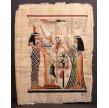 PAPYRUS FEMME AVEC SISTRE DEVANT OSIRIS, ISIS ET NEPHTIS