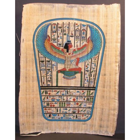 PAPYRUS ISIS AILEE BAS DU SARCOPHAGE
