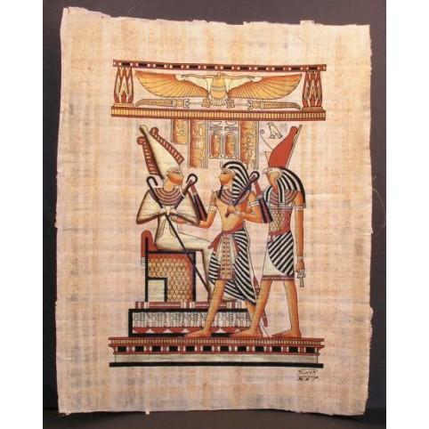 PAPYRUS SETHI 1ER ENTRE HORUS ET OSIRIS