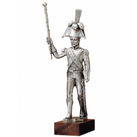 "FIGURINE MUSICIEN ""TAMBOUR MAJOR"" ETAINS DU PRINCE"