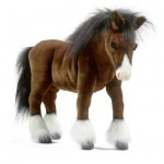 PELUCHE CHEVAL DE TRAIT CLYDESDALE ANIMA