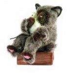 PELUCHE CHATON GRIS JOUEUR ET SOURIS