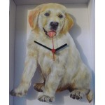 HORLOGE CHIOT GOLDEN RETRIEVER