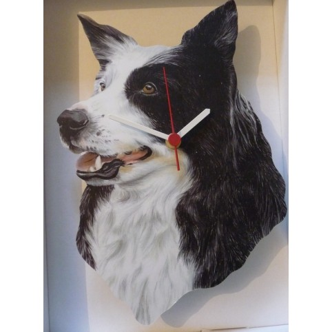 PENDULE CHIEN BORDER COLLIE