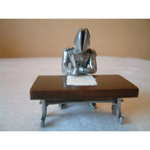 FIGURINE SECRETAIRE ET TABLE CAMP IMPERIAL D'AUSTERLITZ ETAINS DU PRINCE