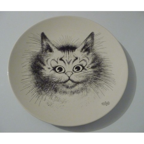 ASSIETTE CHAT DUBOUT PORTRAIT DE CHAT
