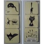 DESSOUS DE VERRE CHAT DUBOUT LOT DE 6