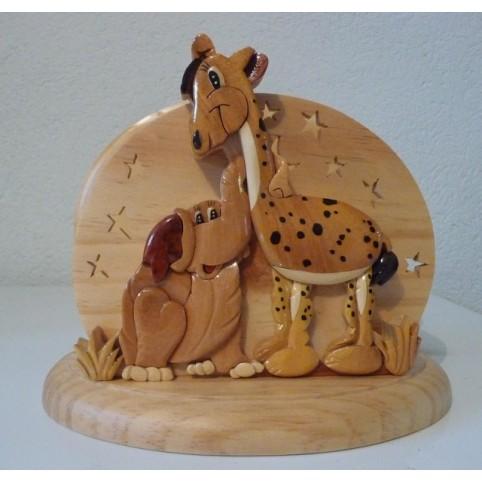 MINI LAMPE ENFANT ELEPHANT ET GIRAFE