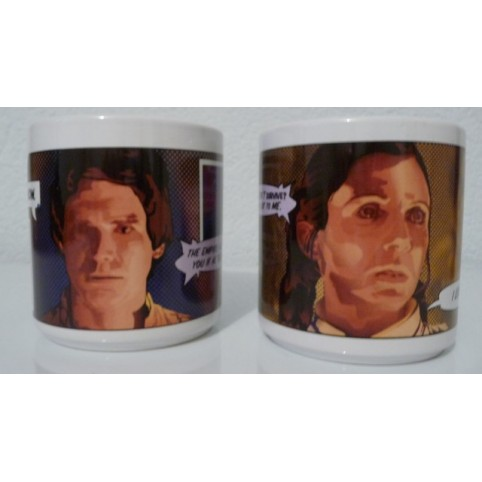 MUG STAR WARS HANS SOLO ET LEIA LOT DE 2