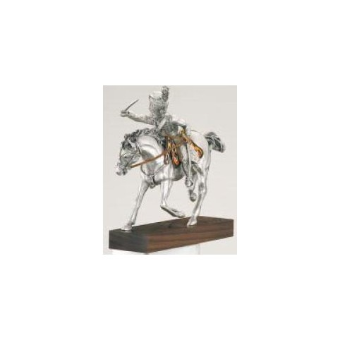 FIGURINE OFFICIER DE HUSSARDS  ETAINS DU PRINCE