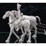 FIGURINE GRIBEAUVAL ATTELEE&quot;PAIRE CHEVAUX 2&egrave;me RANG ETAINS DU PRINCE
