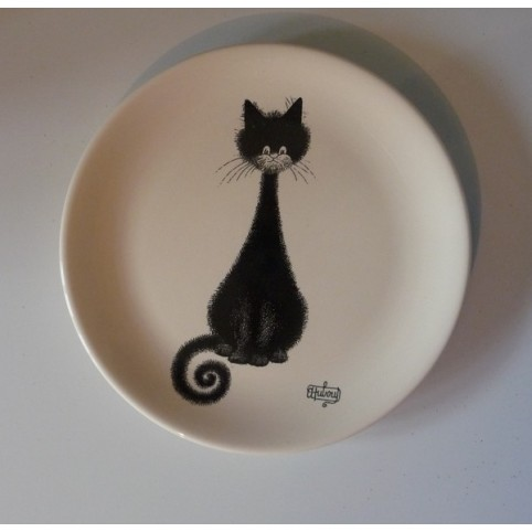 ASSIETTE A DESSERT CHAT DUBOUT : CHAT SPIRALE