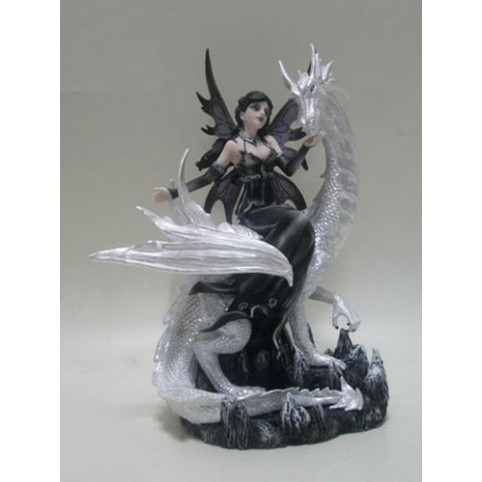 STATUETTE FEE HERMINA ET SON DRAGON
