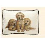 COUSSIN DECORATIF GOLDEN RETRIEVER