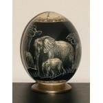 OEUF AUTRUCHE ELEPHANTS