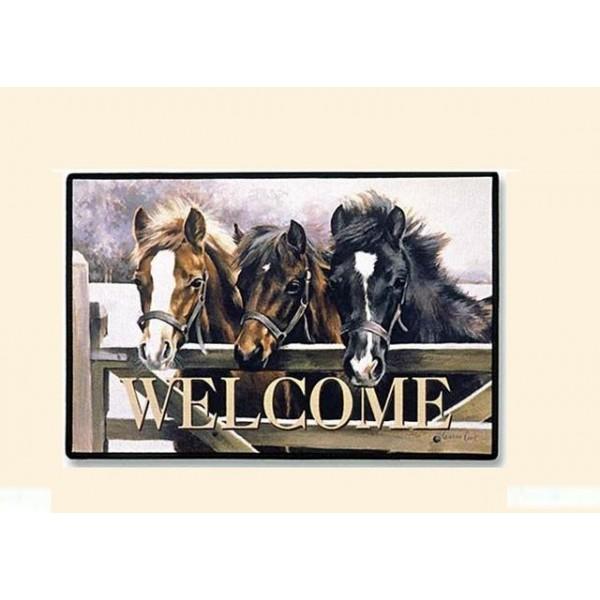 tapis de porte trois chevaux. Black Bedroom Furniture Sets. Home Design Ideas