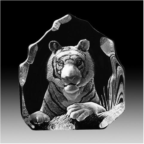 FIGURINE CRISTAL TIGRE MATS JONASSON