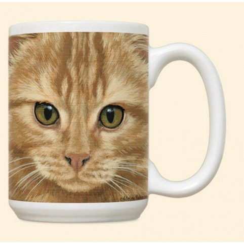 MUG TETE CHAT ORANGE
