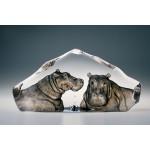 FIGURINE CRISTAL HIPPOPOTAMES MATS JONASSON