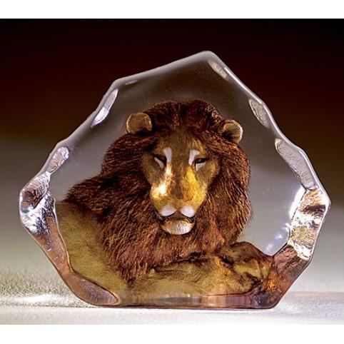 FIGURINE CRISTAL LION MATS JONASSON