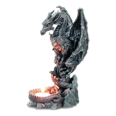 BOUGEOIR DRAGON GARDIEN DU FEU