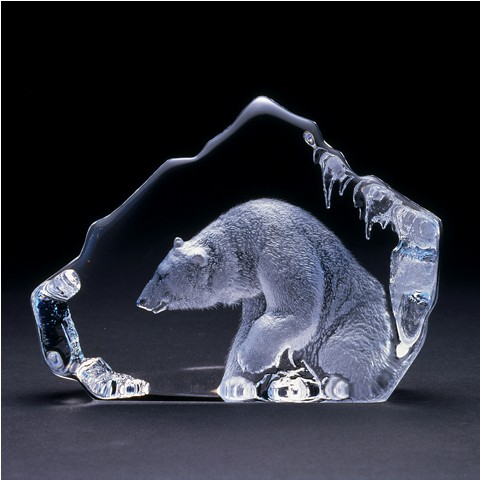 FIGURINE CRISTAL OURS POLAIRE MATS JONASSON