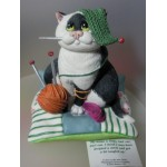FIGURINE CHAT TRICOTE COMIC CURIOUS CATS