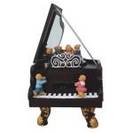 BOITE A MUSIQUE PIANO A QUEUE AVEC OURSONS