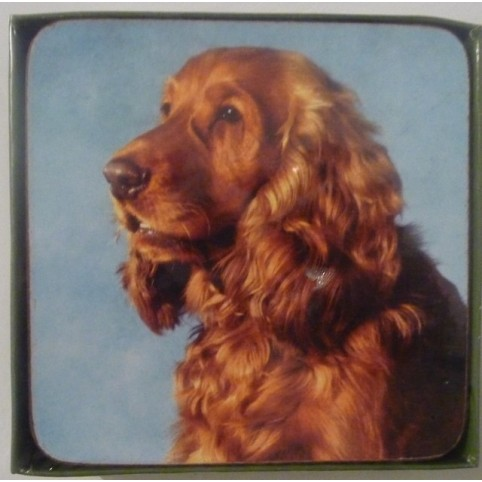 SOUS VERRE COCKER SPANIEL LOT DE 6