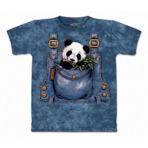 TEE SHIRT ENFANT PANDA DANS POCHE