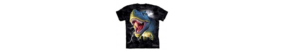 TEE-SHIRT DINOSAURES, ANIMAUX PREHISTORIQUES, ANIMAUX DIVERS