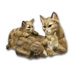 STATUETTES CHATS RESINE