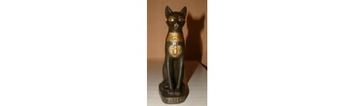 FIGURINE BASTET ET CHATS EGYPTIENS